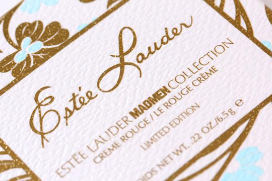 estee lauder mad men collection box detail