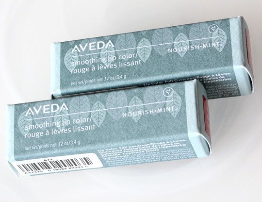aveda sea blossoms nourish-ment lilp color star coral oyster pink boxes