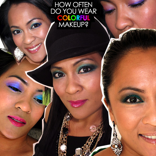 How often do you wear colorful makeup?