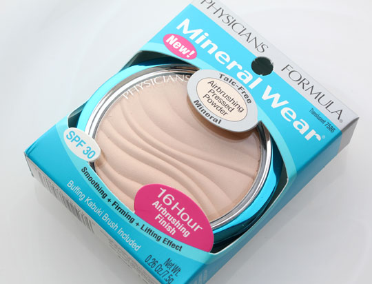 physicians formula mineral wear talc free airbrushing pressed powder 1