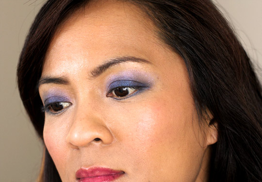 mac extra dimension eye shadows in lunar and blue orbit