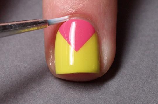 Chevron nails: step 6