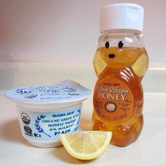 Lemon yogurt peel