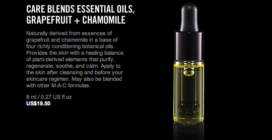 mac care blends essential oils