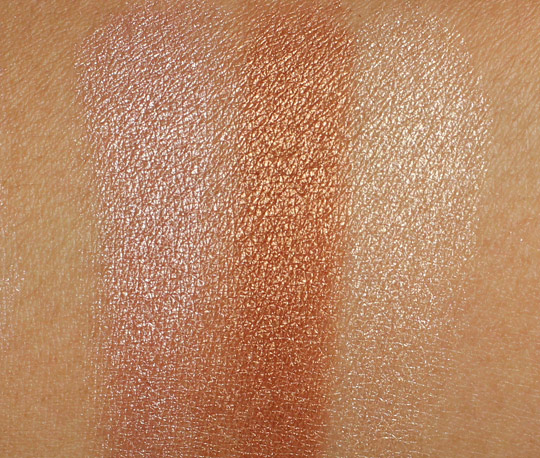mac extra dimension skinfinish swatches
