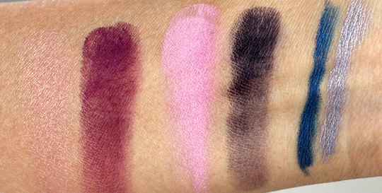 mac reel sexy duos kohl swatches