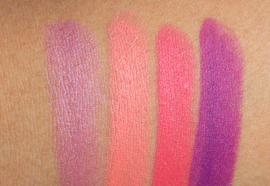 mac reel sexy lipstick swatches