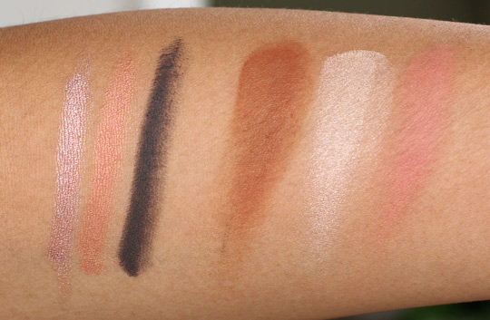 make up for ever aqua shadow fotd swatches