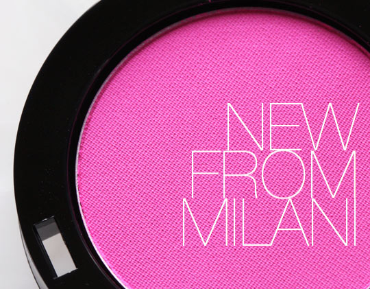 milani powder eyeshadow in shocking pink