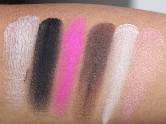 milani powder eyeshadow swatches 1