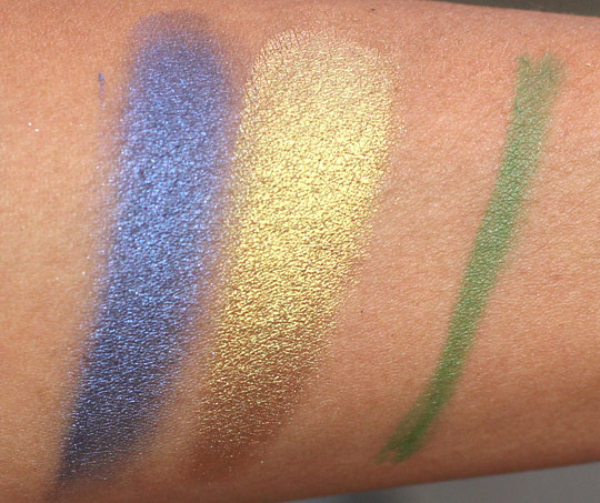 mac hey sailor swatches pigments eyeliner