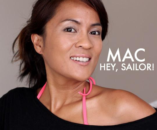 mac to the beach body oil