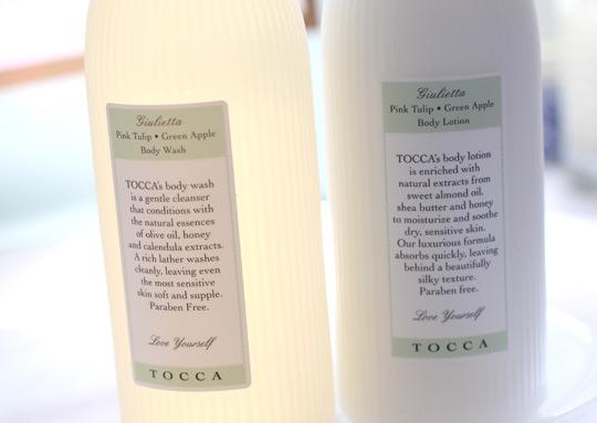 tocca giulietta bagno profumato body wash and crema da corpo body lotion