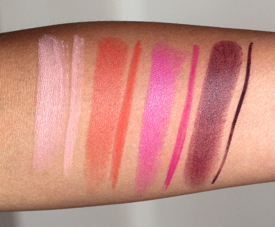 mac beth ditto lip pencil comparison swatches
