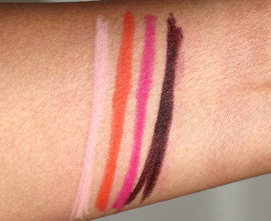 mac beth ditto lip pencil swatches