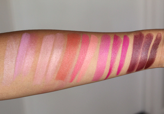 mac beth ditto pro longwear lipcreme comparison swatches