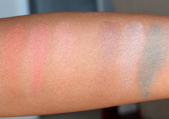 mac heavenly creature swatches