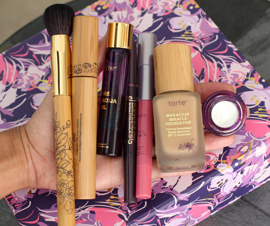 tarte what has your makeup done for you lately in hand