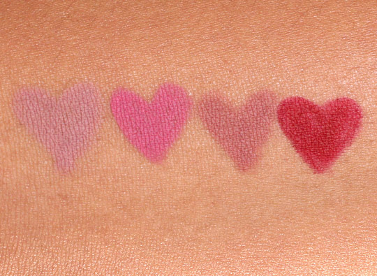 too faced perfect lip swatches