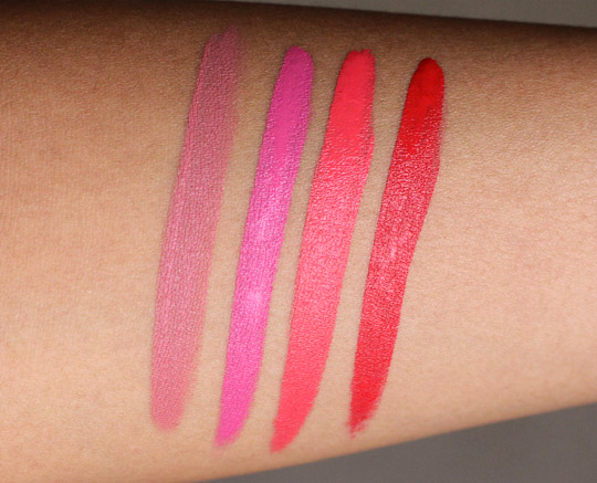 hourglass opaque rouge swatches