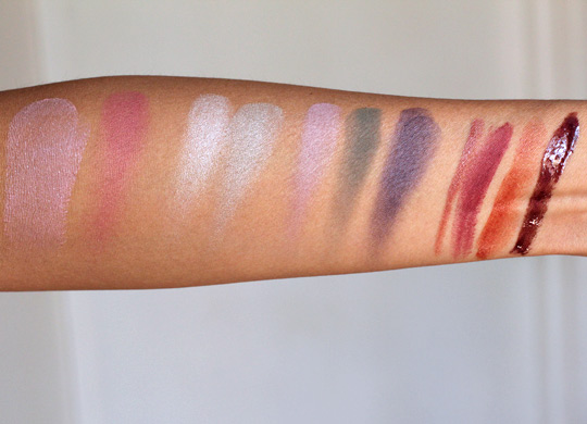 nars fall 2012 swatches