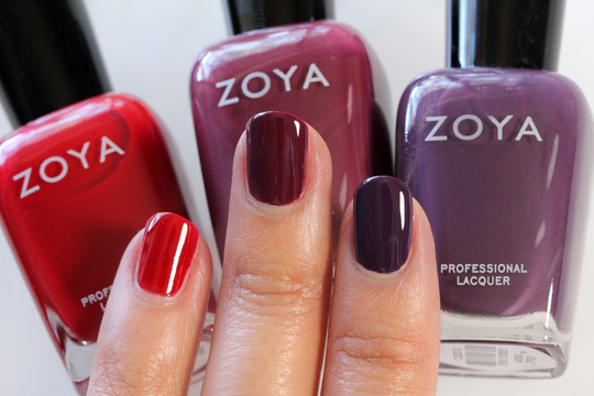 Zoya Designer Collection in Raven, Toni and Monica