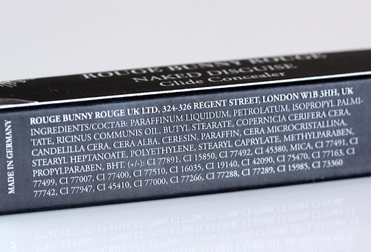Rouge Bunny Rouge Naked Disguise Glide Concealer Ingredients