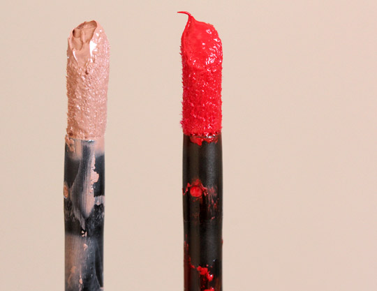 make up for ever aqua rouge wands #8 red #1 nude beige