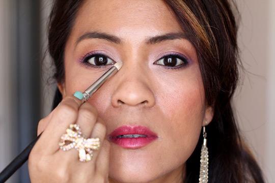 purple eye makeup tutorial extra