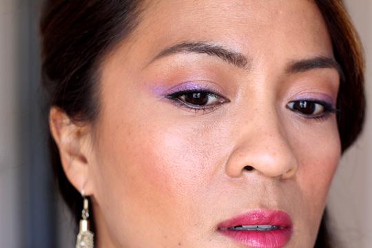 purple eye makeup tutorial side view
