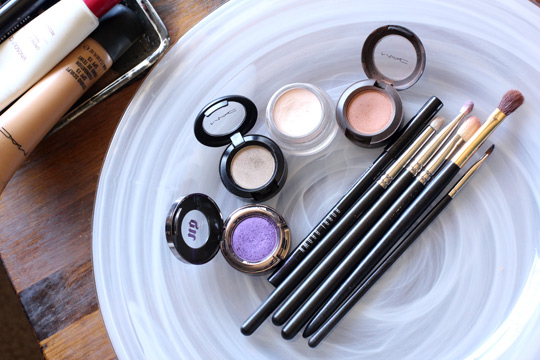 purple eye makeup tuturial products