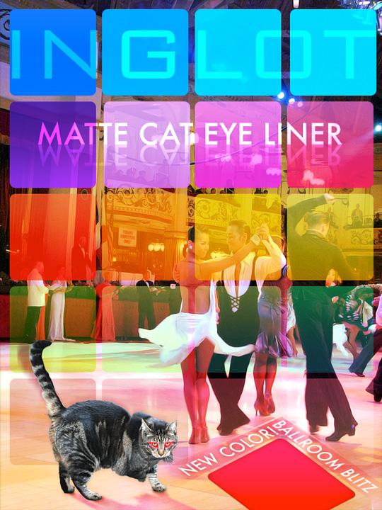 Tabs for Inglot Matte Cat Eyeliner in Ballrom Blitz