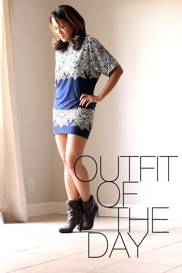 outfit of the day bcbg dress