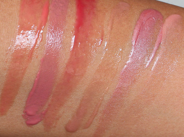 benefit high flyin glosses swatches