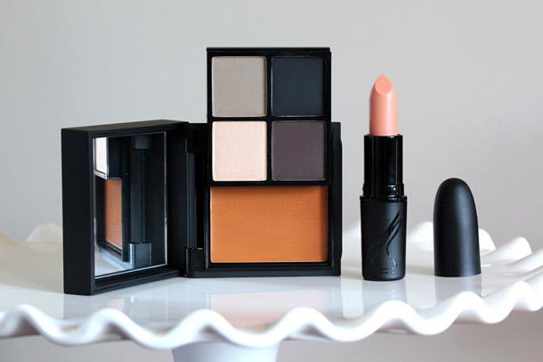 Full Face Kit in Jungle Camouflage on the left and Lipstick in Tropical Mist on the right