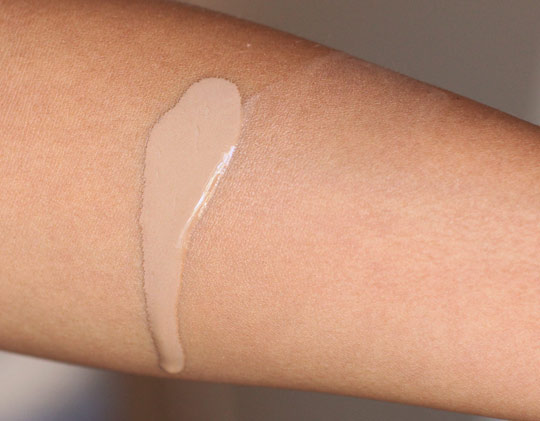 mac face and body foundation swatch
