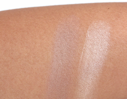 mac sublime nature paint and bare canvas swatches