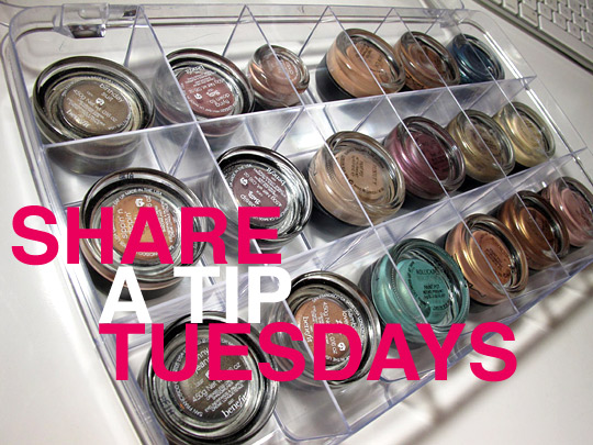 Share A Tip Tuesdays: Unconventional Makeup Storage Ideas