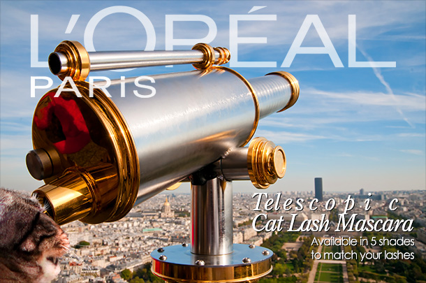 Tabs for L'Oreal Telescopic Cat Lash Mascara