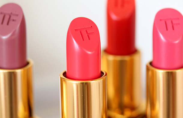 Tom Ford Beauty Lip Colors in Casablanca, True Coral, Wild Ginger and Flamingo