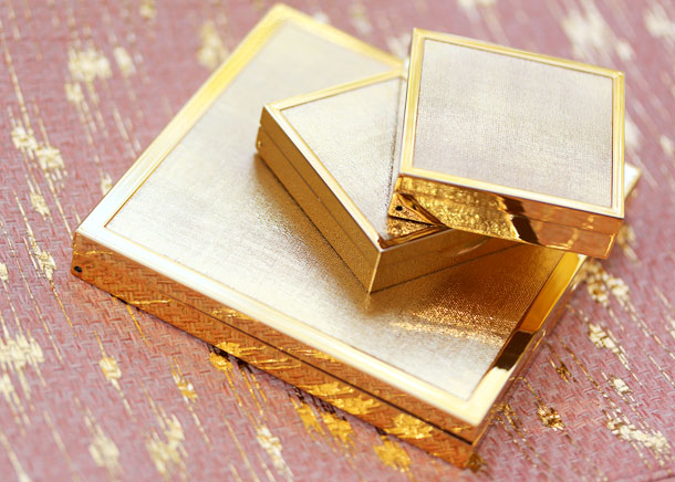 aerin beauty makeup holiday 2012 packaging compacts