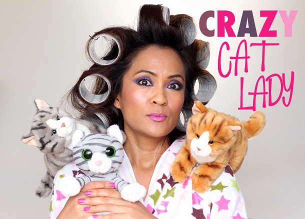 crazy cat lady costume  sc 1 st  Makeup and Beauty Blog & Last-Minute Halloween Costume Ideas: Crazy Cat Lady - Makeup and ...