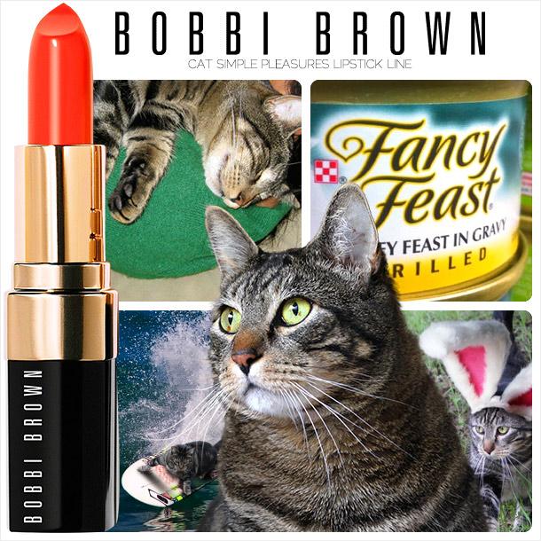 Tabs for the Bobbi Brown Cat Simple Pleasures Lipstick Line