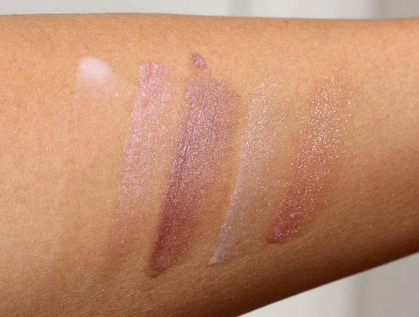 bobbi brown caviar oyster swatches lip gloss