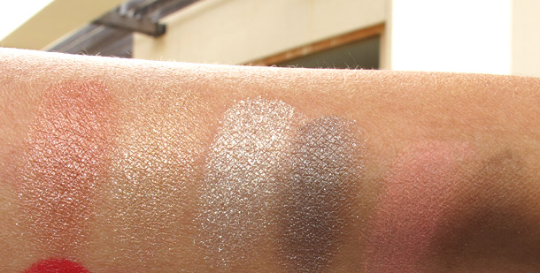laura mercier art deco muse swatches eyeshadow cheek color