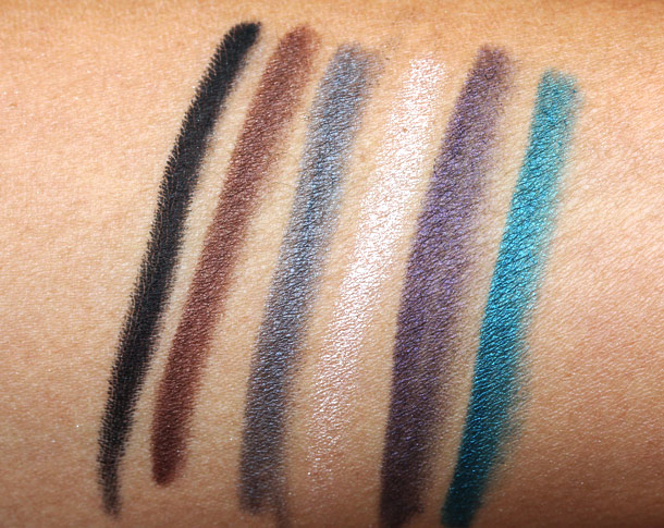 make up for ever aqua eyes collection swatches