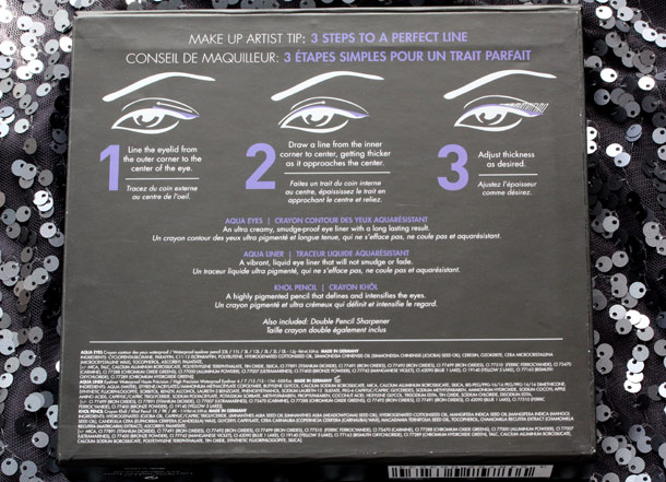 make up for ever ultimate eye liner collection back of the box
