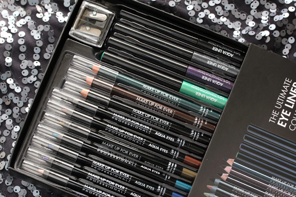 make up for ever ultimate eye liner collection box open
