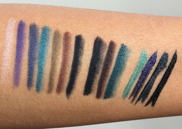 make up for ever ultimate eye liner collection swatches