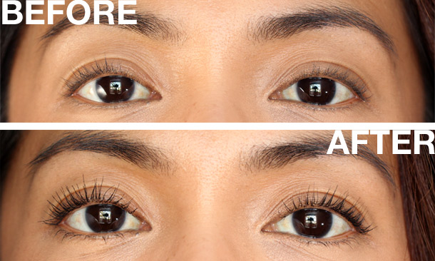 maybelline full n soft mascara waterproof before after